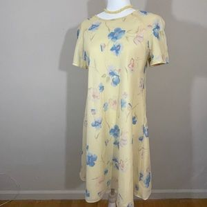 Liz Claiborne sz 12 p. Dress sheer lined dress
